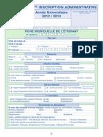 Inscription file for University of Orleans