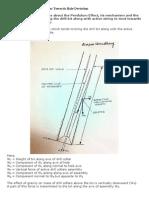 Pendulum Effect of Drill Collar Towards Hole Deviation