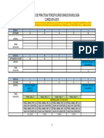 2014-15-Calendario de Practicas Tercer Curso Grado Biologia 4