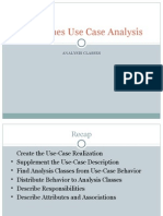 Guidelines Use Case Analysis (Analysis Classes)