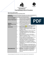 Food Handling Policy and Procedure Nm 1