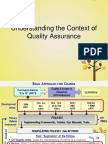 2a Understanding the Context of Quality Assurance
