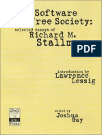Free Software FreeSociety Selected Essays of Richard M. Stallman