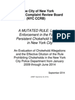 CCRB Chokehold Report