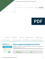 MEP – MiEmpresaPropia Inicia Un Negocio de Inmobiliarias en El Perú - MEP - MiEmpresaPropia
