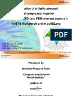 Optimization of a Highly Stressed Radial Compressor Impeller Optislang