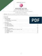 GROUPSandREPS LW 1139 Pmath745notes