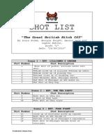 Shot List- Media