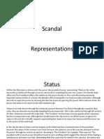 Scandal Representation