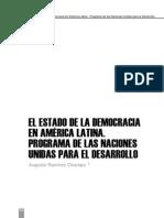 El Estado de La Democracia en America Latina. Programa de La Naciones Unidas Para El Desarrollo