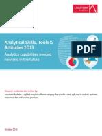 Lavastorm Analytics Survey Skills Tools and Attitudes October 2013