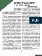 El Partido Conservador Nicaragua, Sus Afinidades e Discrepancias744