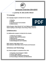 Grade 5 Curriculum Overview (2014-15)