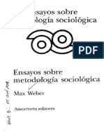 Weber Max Ensayos Sobre Metodología Sociológica COMPLETO