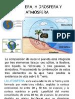 Litosfera, Hidrosfera y Atmósfera