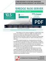 Database performance and resiliency in the Dell PowerEdge R630 running Microsoft SQL Server 2014