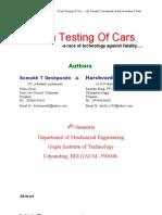 Crashing Testing of Cars