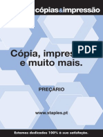 Staples printing Portugal price list