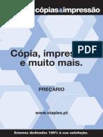Staples printing Portugal price list