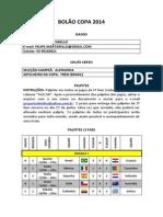 Palpites 1ªfase Felipe Martarello