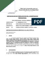 Disposicion de No Formalizacion de Odon Vega
