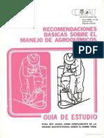 Recomendaciones Básicas Sobre El Manejo de Agroquímicos.