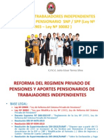 Diapositivas Afiliación Régimen Pensionario Trabajadores Independientes