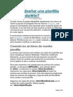 Cómo Diseñar Una Plantilla Para MediaWiki