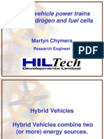 Hybrid Vehicle Power Trains Using Hydrogen and Fuel Cells