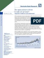 Do Speculators Drive Crude Oil Prices
