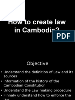 How to Create Law in Cambodia