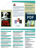 Dog Bite Prevention for Utility Workers Brochure
