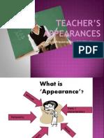 Teacher's Appearance ( penampilan guru)