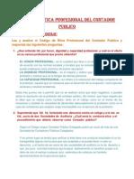 Código de Etica Profesional Del Contador Público