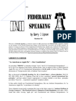 Federally Speaking 48 by Barry J. Lipson, Esq