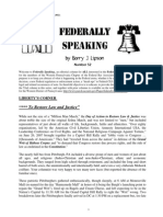 Federally Speaking 52 by Barry J. Lipson, Esq