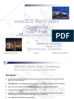 2008 DCS Users Conference Brief
