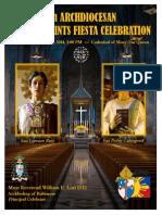 Filipino Saints Fiesta Celebration Mass Guide 2014