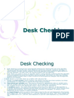 Desk Checking note