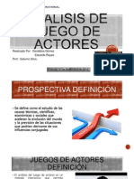 Analisis de Juego de Actores