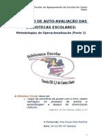 MAABE-Metodologias de Operacionalização I - Plano de Avaliação