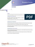 Premier Cuvee Data Sheet