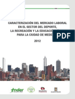 Caracterizacion Mercado Laboral Sector Deporte Medellin