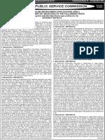 advt. no. 15 of 2014
