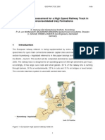 Serviceability Assessment for HSR Track