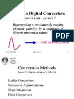 A-DConverters_Electronics Lecture 7