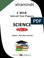 Class X Science (Acid Base and Salt 01)