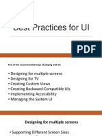 Best Practices for UI