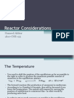 General Considerations for Reactor Design