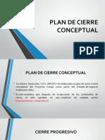 Plan de Cierre Conceptual